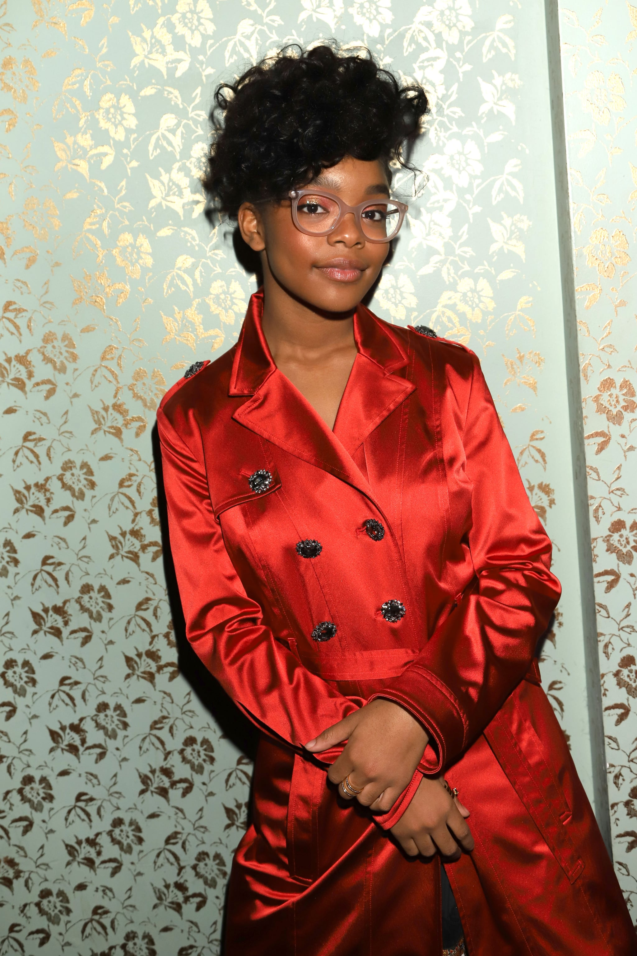 WEST HOLLYWOOD, CALIFORNIA - FEBRUARY 22:  Marsai Martin attends Common's 5th Annual Toast to the Arts  at Ysabel on February 22, 2019 in West Hollywood, California. (Photo by Arnold Turner/Getty Images for  Freedom Road Productions)