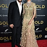 Camila Alves's Marchesa Gold Gown at NYC Gold Premiere