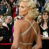 All eyes were on Charlize in February 2004, when she graced the Oscars red carpet and took home a best actress award.