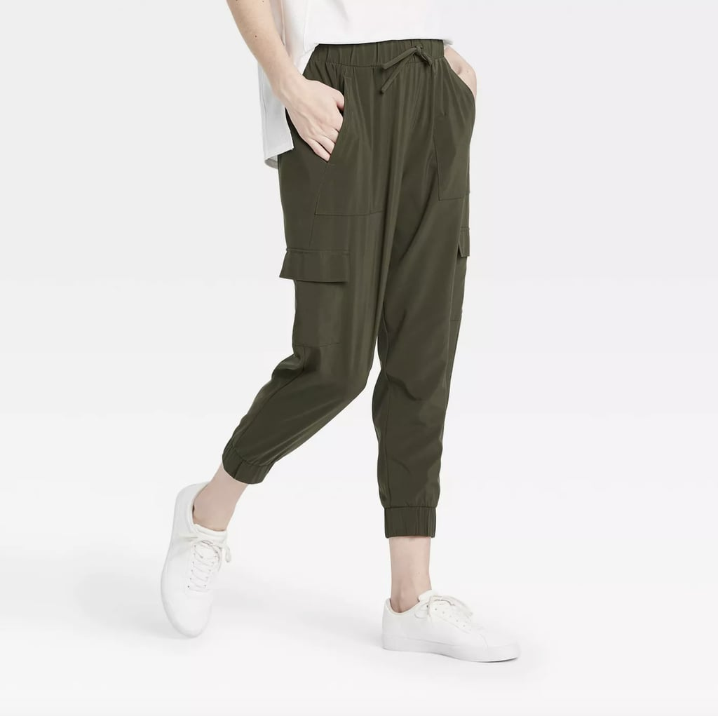 Stretch Woven Cargo Joggers