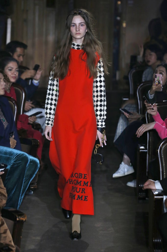 Gucci Look: This Checkered Blouse and Red Dress