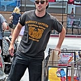 Robert Pattinson stocked up on groceries for the weekend.