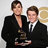Melissa Rivers and her son, Cooper Endicott, were on hand to accept the Grammy award for best spoken word album on behalf of the late Joan Rivers.