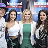 Pictured: Bob Morley, Lindsey Morgan, Eliza Taylor, Marie Avgeropoulos, and Ricky Whittle.