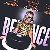 All eyes were on Beyoncé and her personalized cake during the party for her visual album in December 2013.