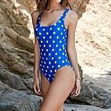 LA Hearts Stars & Stripes Low Back One Piece Swimsuit ($33)