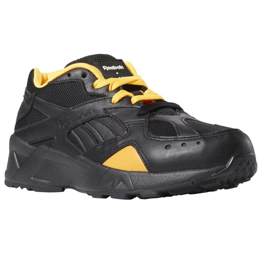 Reebok Aztrek x Gigi Hadid Sneakers in Black and Yellow
