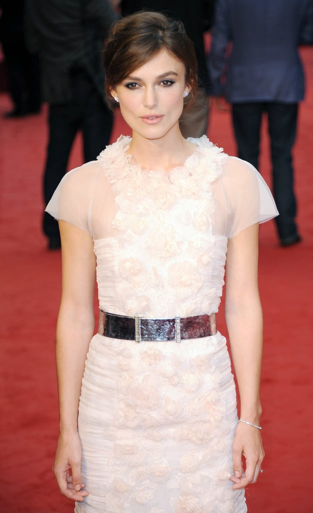 Keira's metallic silver belt gave the look a sleek contrast.