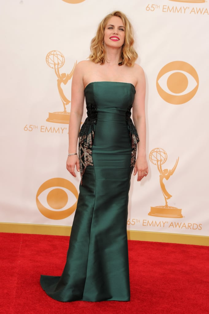 Anna Chlumsky on the red carpet at the 2013 Emmy Awards.