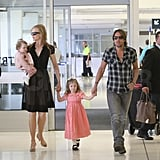Nicole Kidman and Keith Urban traveled with daughters Faith and Sunday.