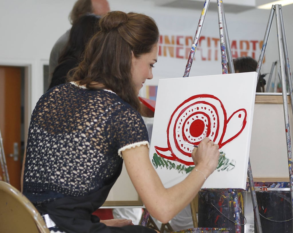 Kate Middleton painting at Inner City Arts in LA.