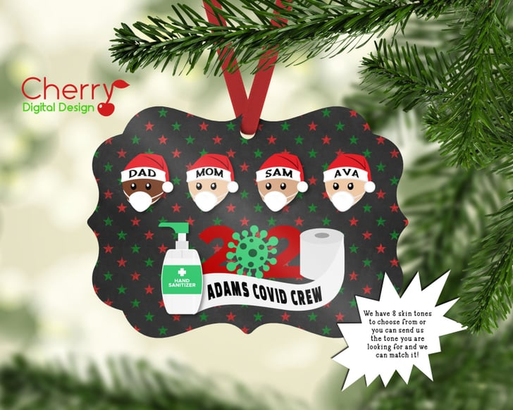 shop pandemic themed 2020 christmas ornaments for families popsugar family 2020 christmas ornaments for families