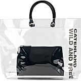 DSQUARED2 Clear Tote Bag With Slogan