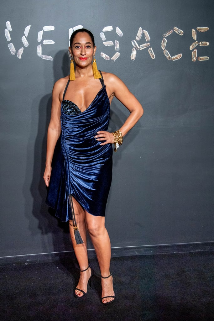 Tracee Ellis Ross Stunned in a Ruched Velvet Dress