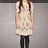 A sweet, printed dress and tights for a True Grit press conference in Tokyo.