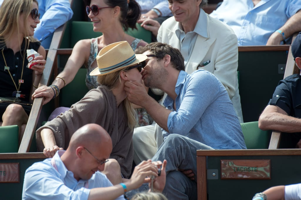Joshua Jackson and Diane Kruger gave each other love at the French Open in May 2012 in Paris.