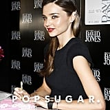 Miranda Kerr Greets Fans and Works on Her Skin Care Line Down Under