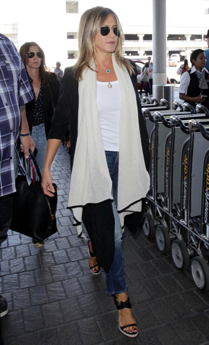 Jennifer Aniston Travel Style July 2016 Popsugar Fashion