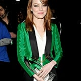 Emma Stone was happy with her 2012 People's Choice Award.