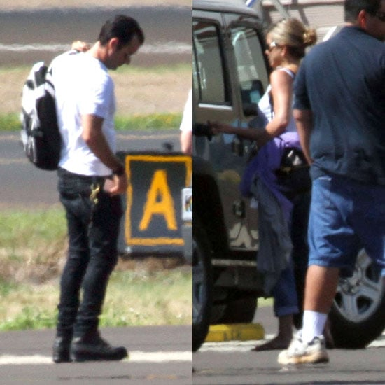 Jennifer Aniston and Justin Theroux Pictures Leaving Hawaii
