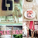 Giddyap, Girl! How to Throw a Honky-Tonk Bridal Shower  Lasso up your pals and pull on your cowboy boots, we've got all the inspiration you need to throw a bridal shower with country and western flair. If this is your first rodeo as a bride-to-be or a maid-of-honor planning a bridal shower (or bachelorette party), have no fear, we've got you covered from the barn-worthy activities to the country-chic decor and dress code. And don't forget to set the mood with these country wedding songs. Now let's have a little less talk and get this boot-scootin'-boogie bridal shower going!