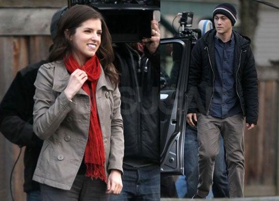 Photos of Anna Kendrick And Joseph Gordon-Levitt Filming in Vancouver