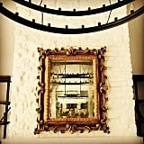 Jeff snapped a photo of the gold mirror at Kylie's, writing on Instagram that it was the first installation.