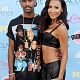 Former couple Big Sean and Naya Rivera stayed close to one another while posing for photos on the red carpet in 2013.