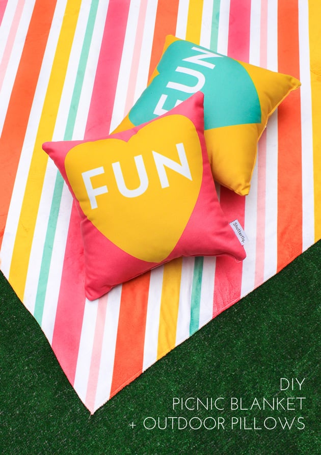 DIY Throw Pillows and Blanket 8 DIYs to Refresh Your Home For Summer POPSUGAR Home