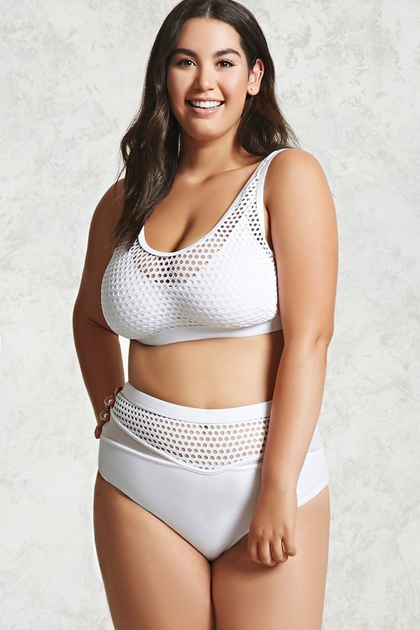 Forever 21 ($16) makes budget-friendly plus-size swimsuits for ladies who want a specially designed fit.