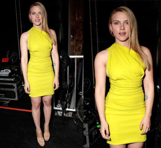 Scarlett Johansson Yellow Dress