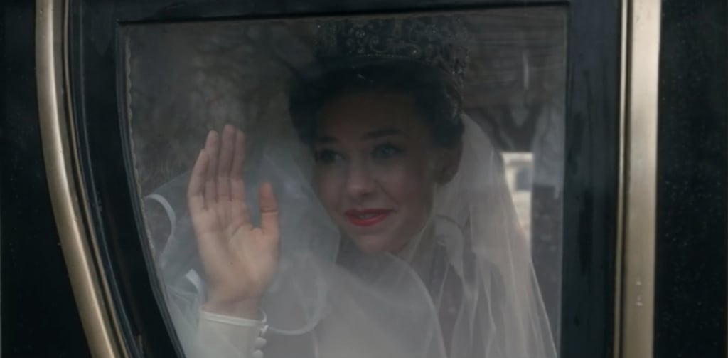 Kirby waves to the crowd as Princess Margaret.
