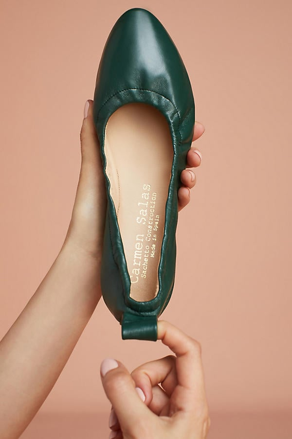 Carmen Salas Leather Ballet Flats