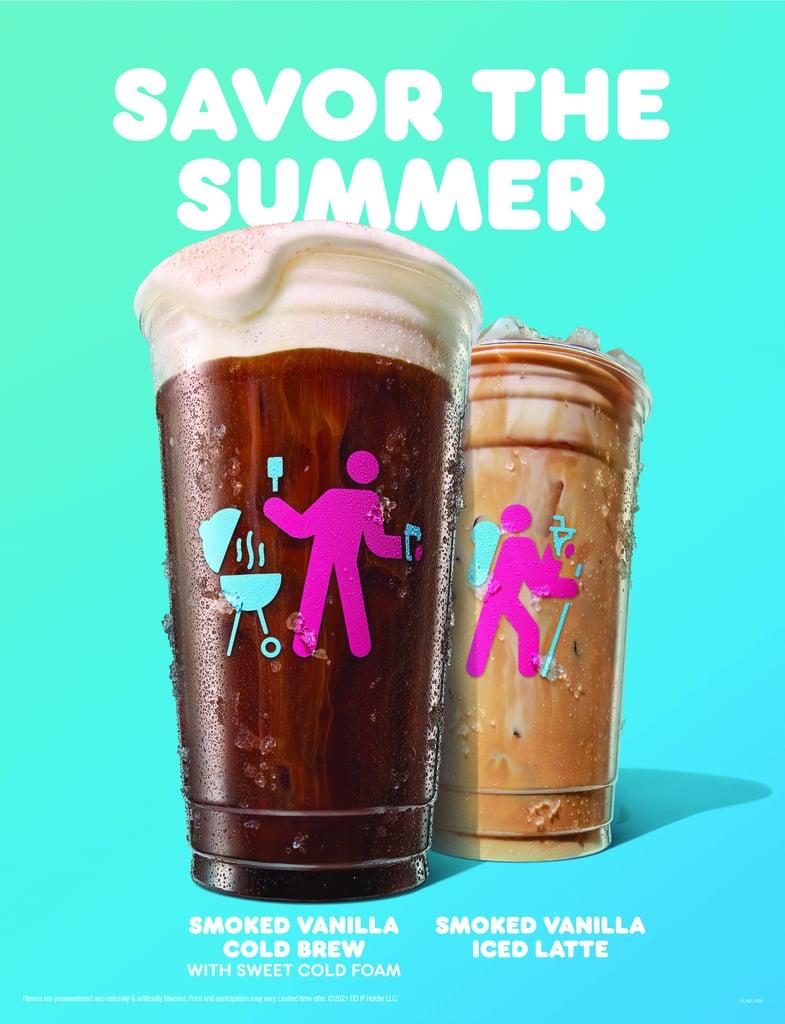 Dunkin's New Summer 2021 Smoked Vanilla Cold Brew and Smoked Vanilla Iced Latte
