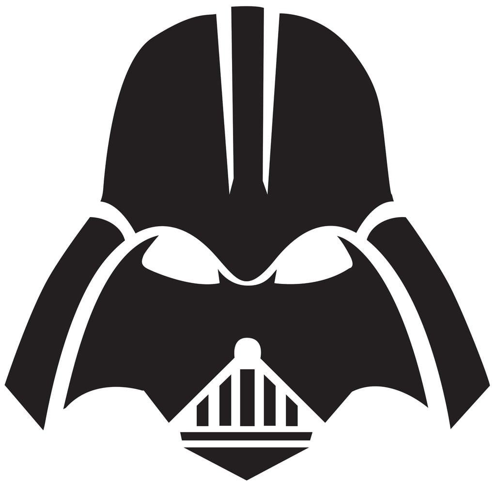Fan image within darth vader printable mask