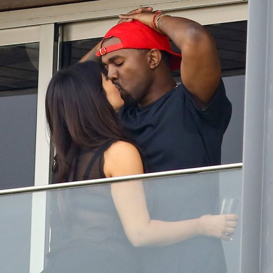 Kim Kardashian and Kanye West Kissing in Rio