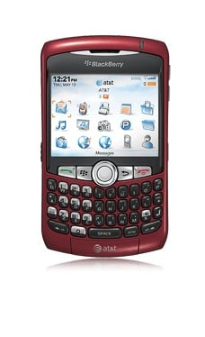 Red BlackBerry Curve