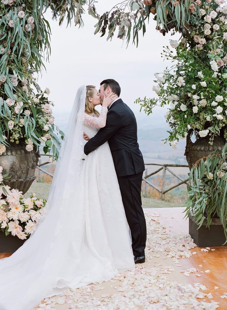 Kate Upton's Modest, Sheer-Sleeved Wedding Dress Is the Kind You Dream of Getting Married In