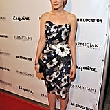 Carey Mulligan blossomed in a strapless floral Lavin number at the 2009 LA premiere of An Education.