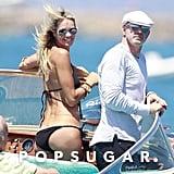 Elle Macpherson went boating around Spain with then-boyfriend Roger Jenkins in July 2012.