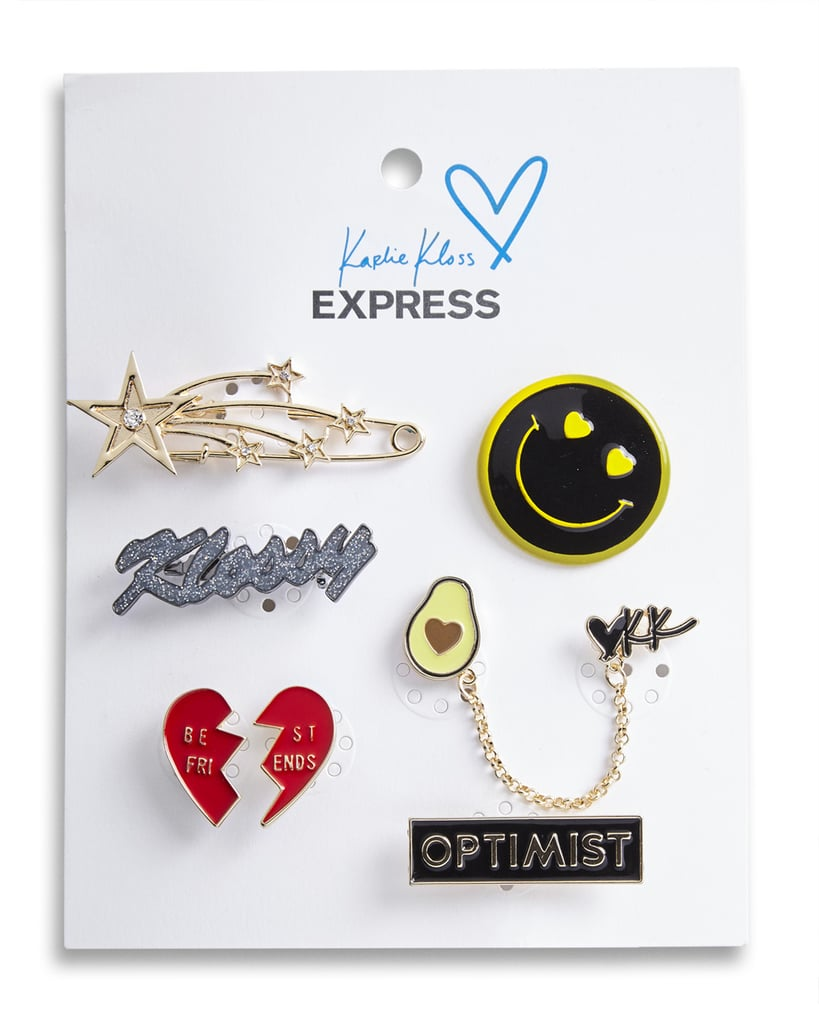 Karlie Kloss x Express Heart And Smiley Face Pin Set ($30)