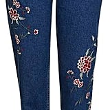 Topshop Moto Dark Embroidered Mom Jean ($110)