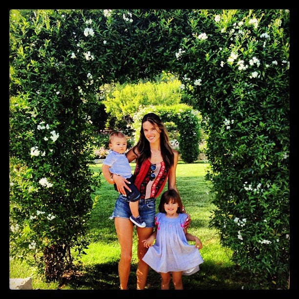 Alessandra Ambrosio hit up a garden with her kids. Source: Instagram user alessandraambrosio