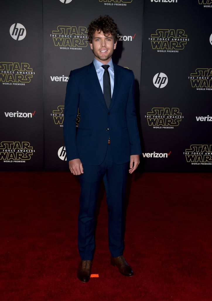 It's no secret that Taylor Swift has a hot younger brother, and even though we rarely get a glimpse of him, his latest appearance will surely leave you gasping for air. On Monday, 23-year-old Austin Swift made an appearance at the Star Wars: The Force Awakens premiere in LA, looking more handsome than ever. Austin donned a blue tux for the event, which also included a special appearance by Joe Manganiello and his gorgeous wife, Sofia Vergara. Missing from the fun, though, was Taylor, who rang in her 26th birthday just a day ago.  Of course, this isn't the first time we've seen Austin. He's made a handful of appearances with Taylor, including at this year's Billboard Music Awards and MTV VMAs. Keep reading to see more photos of the handsome stud, then check out an adorable throwback photo of him and Taylor.