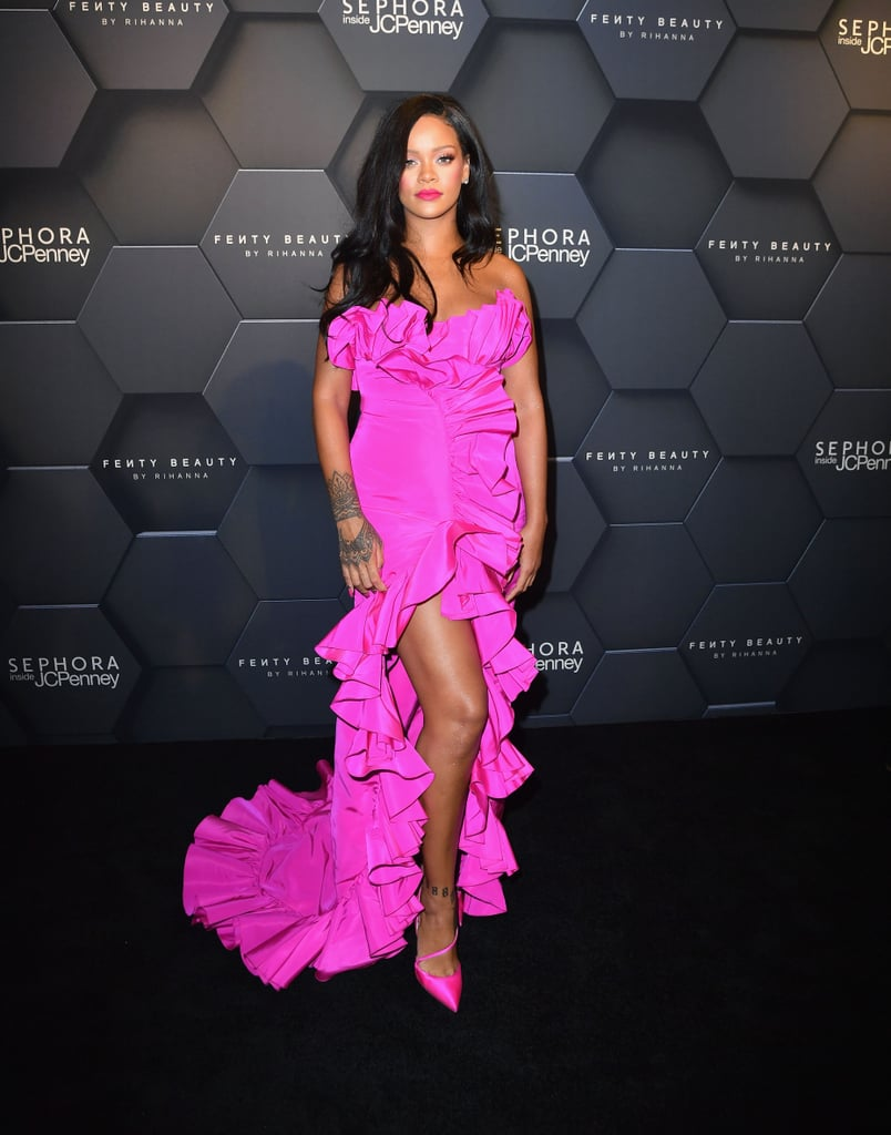 Image result for Rihanna all-pink ad for Fenty