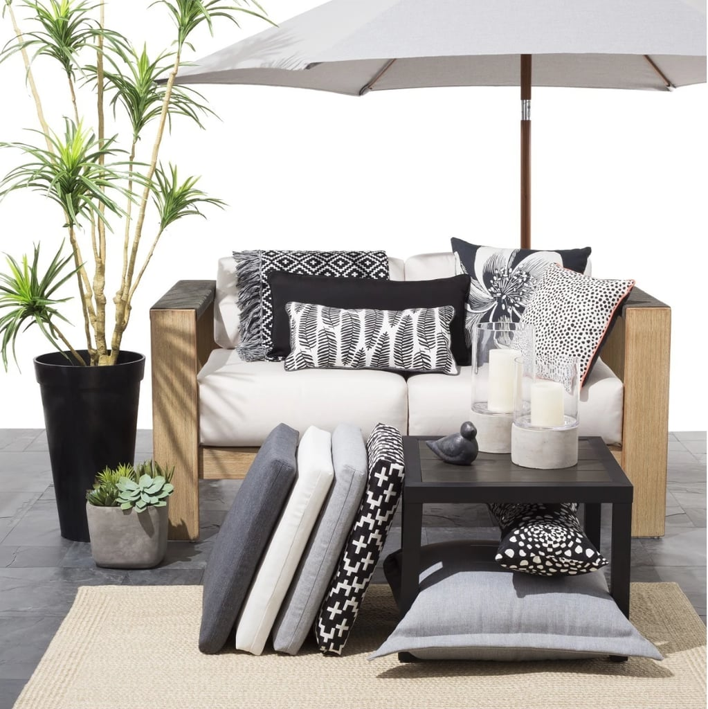 Oversize Lumbar Mod Palm Outdoor Pillow
