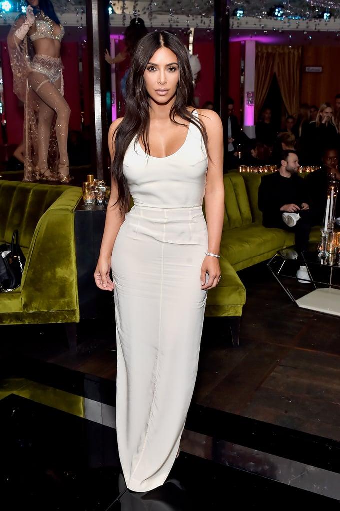 Kim Kardashian White Dress at Lorraine Schwartz Event 2018