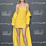 Yellow is often hard to pull off, but not for Gigi. She wore a monochrome Ralph Lauren ensemble in Nov. 2017 to her Gigi Hadid x Maybelline party.