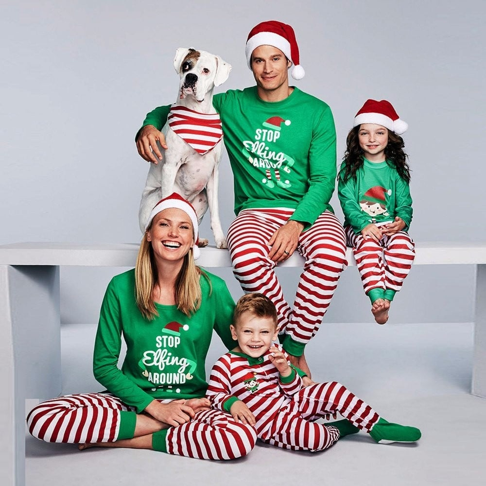 matching family christmas pajamas on amazon popsugar family