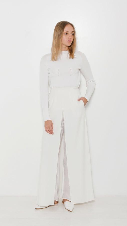 The Dreslyn High Waist Slit Layer Pant ($385)